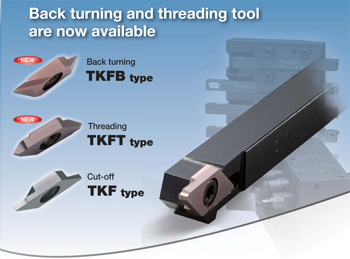 Kyocera Cutting Tools - Grooving - KTKF Small Parts Machining