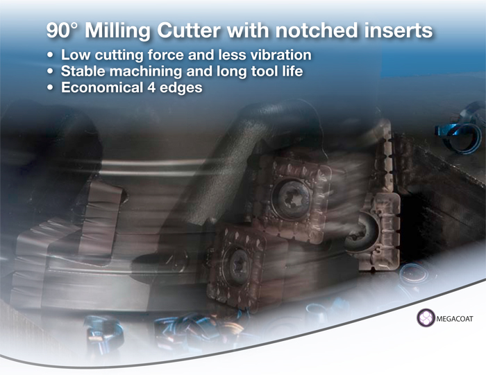 Kyocera Cutting Tools - Milling Applications - MSRS90 - Monster Square 90°