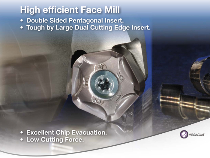 Kyocera Cutting Tools - Milling Applications - MFPN - Pentagon Face Mill