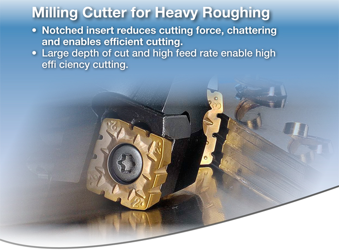 Kyocera Cutting Tools - Milling Applications - MSRS15 - Face Mill for Roughing