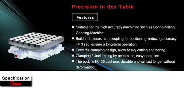 Golden Sun - Precision Index Table - GCT 301 - 1200