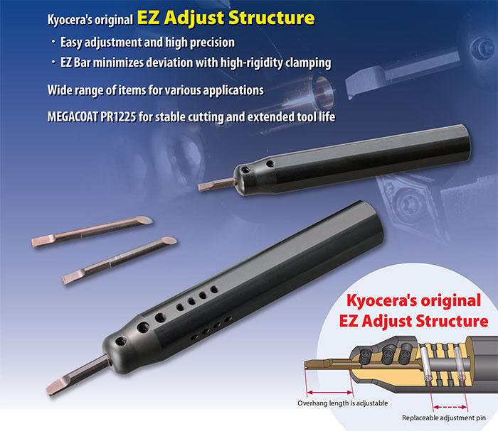 Kyocera Cutting Tools - Boring - EZBar - Easy Adjustment and High Precision