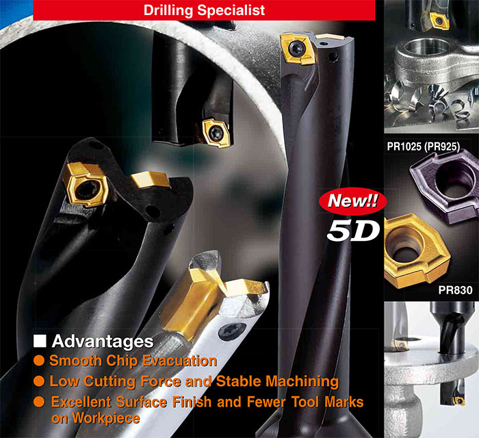 Kyocera Cutting Tools - Drilling Applications - DRZ - Economical Magic Drill