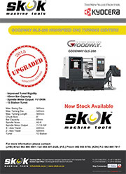 Goodway GLS 200 CNC Lathe Upgraded Specifications