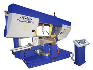 Ocean Terminator Band Saws for Structural Steel Fabricators