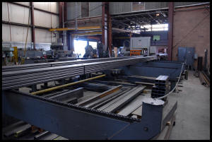 modular material handling system for structural steel