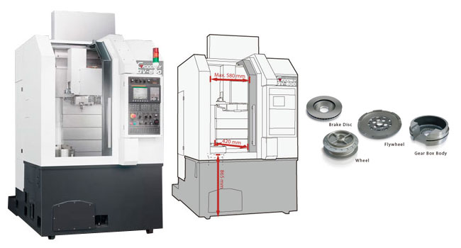 Goodway - High Speed Vertical CNC Turning Centers - GV - 500 Series