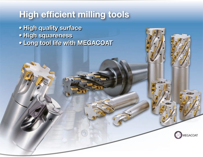 Kyocera Cutting Tools - Milling Applications - MEC/X/H - High Efficiency End Mills