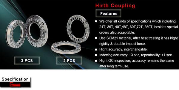 Golden Sun - Hirth Coupling - 2pcs / 3pcs